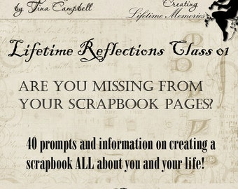 Lifetime Reflections Class 01, Scrapbook, Book of Me