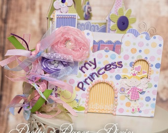 PRE-MADE Princess Album - Premade  Keepsake Scrapbook -  Memories Album-