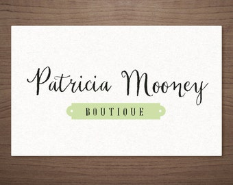 Premade photography logo Script with Frame - Photography Boutique Wedding Small Business