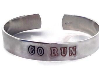 Go Run - Motivational Jewelry - Fitness jewelry - Run Jewelry - Exercise Bracelet