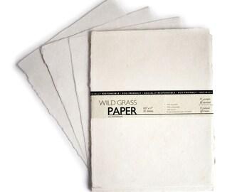 "200 Shts Deckled/Cream 8.5"" x 11"" Printable Natural Paper (Deckled Edge) (Cream)"