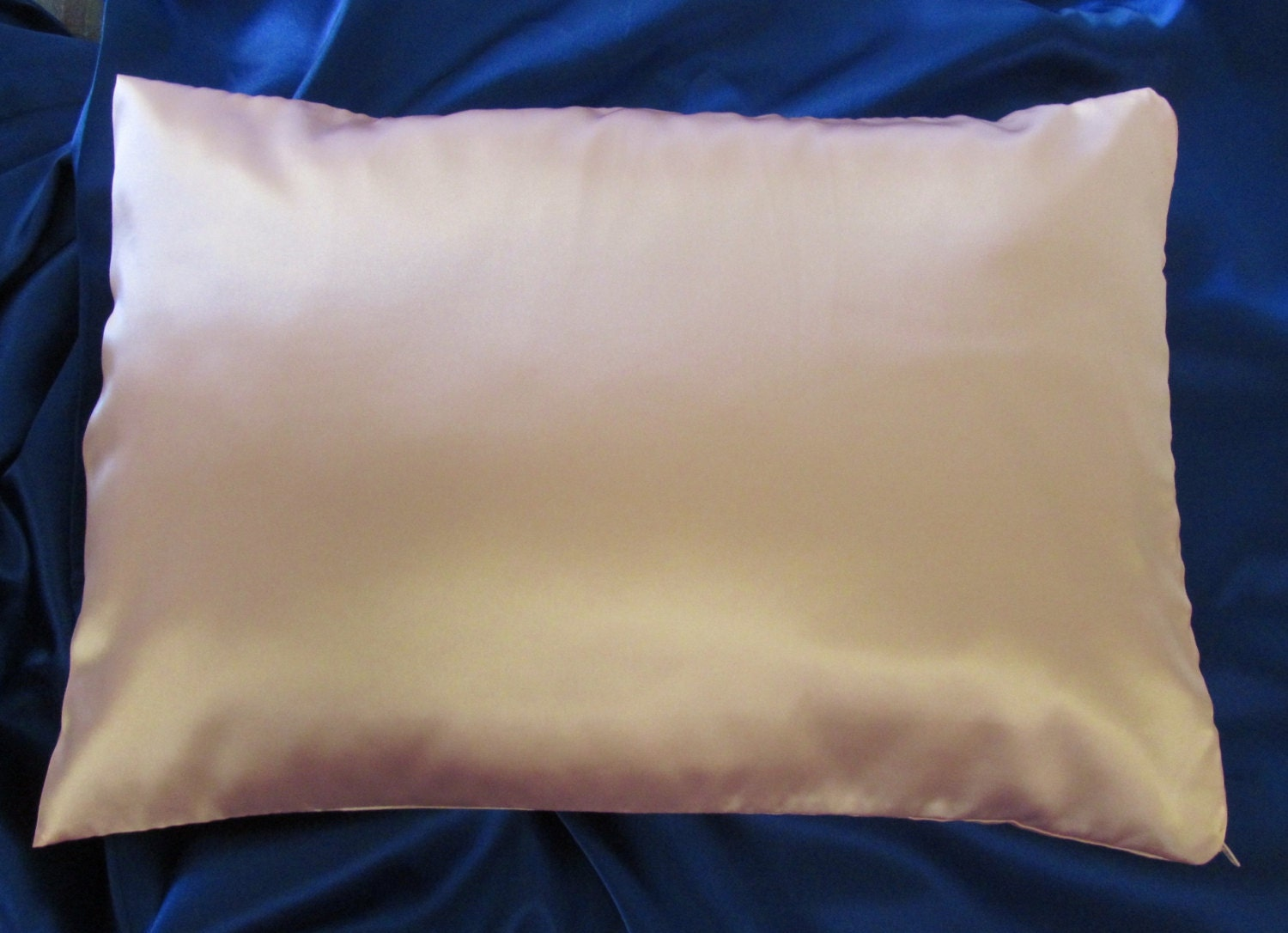 Travel Size Zippered Ivory Satin Pillowcase By Astidesigns