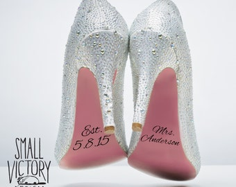 Wedding Shoe Decals / DIY Vinyl Stickers / DIY Vinyl Decals / I do shoe stickers / DIY vinyl / wedding shoe stickers