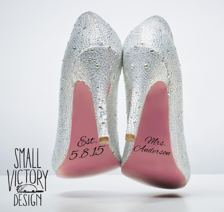 Wedding Shoe Decals / DIY Vinyl Stickers / DIY Vinyl Decals