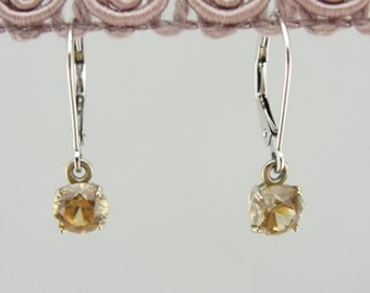 Gorgeous Golden Zircon and Fine Gold Earrings P2U6KY-N