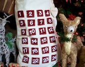 Personalised 2 in 1 Pocket Advent Calendar and Santa Sack