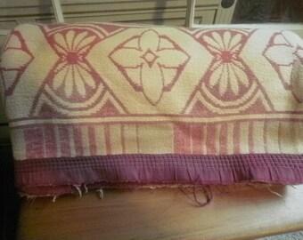 Vintage Wool Camp Blanket Cottage Chic Rustic Vintage Bedding Lovely Pattern