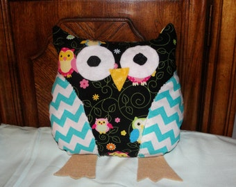 Animal Squishy Pillows : Squishy Happy Hoot~Owl Friend~Owl Pillow~Stuffed Animal~Stuffed Owl~Chevron Owl~Nursery Decor ...