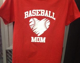 Short Sleeve, Screen Printed, Baseball Mom T-Shirt