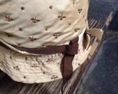 vintage Silk embroidered 1920's  Cloche -  women's hat
