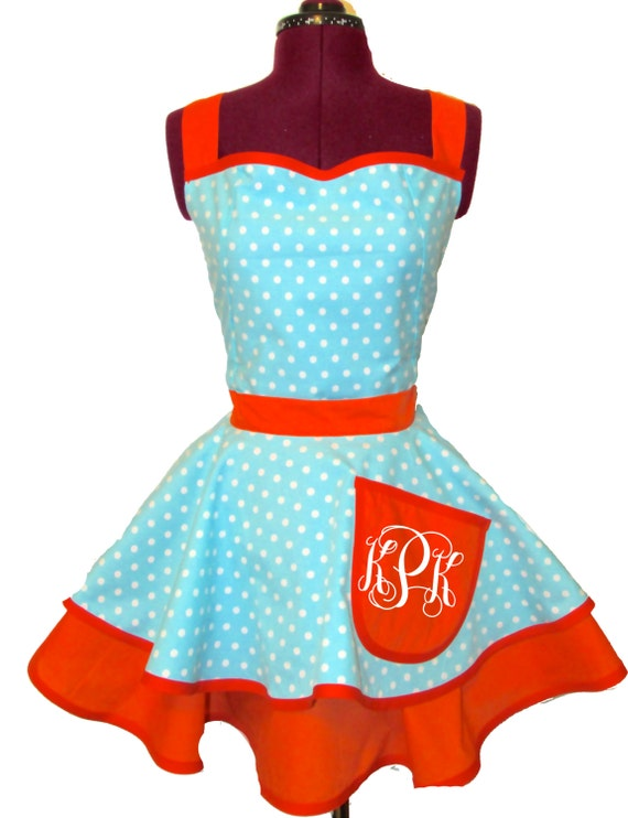 "Designer Apron ""The Kathryn"" with Monogram"
