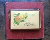 Antique Photo Celluloid Album Scrapbook Memory Book Velvet Autographs 38 Photographs