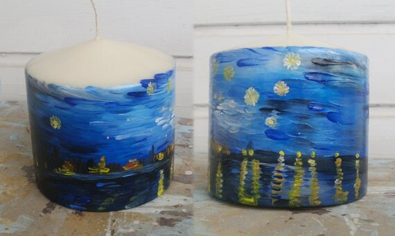 "Candle - ""Starry night over the Rhone"""