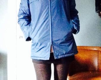 70's royal blue Vanderbilt ski winter coat jacket
