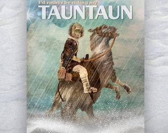 """Star Wars Inspired """"Tauntaun"""" 11X14 Signed Art Print Empire Strikes Back Poster Hoth Series Han Solo Herofied"""