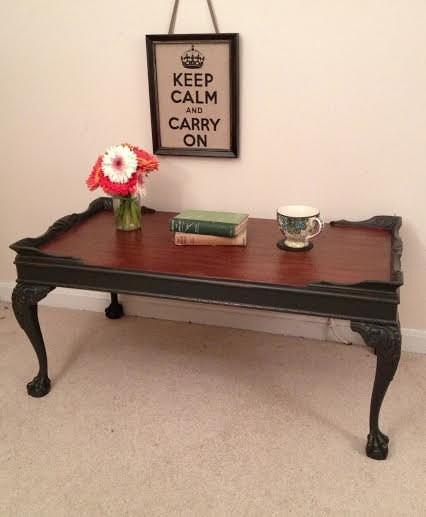 Sale Painted Vintage Coffee Table Chalk Painted Furniture