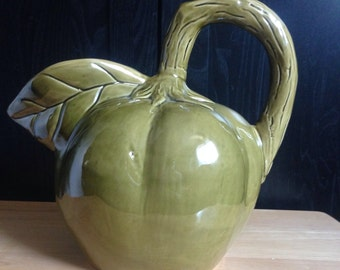 Vintage Olive green fruit pitcher