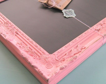 Shabby Pink Detailed Magnetic Chalk Board Vintage Inspired Chalkboard Business Sign Office Orgnaizer Available in Many Size