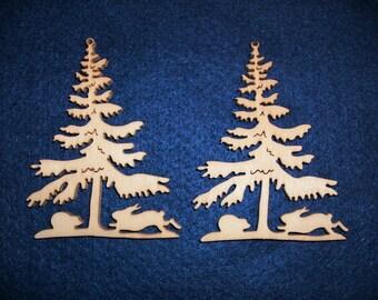 2 fir wood, 8 x 6 cm (14-0008A)