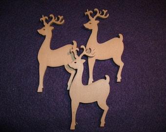 Deer, 3 pieces, 8 x 4 cm (10-0019A)