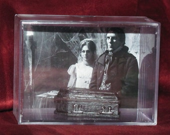 "Dark Shadows 'Barnabas Collins' Collectible Coffin display/NEW and makes a great ""Unique"" Gift or a cool addition to a Shadows collection"