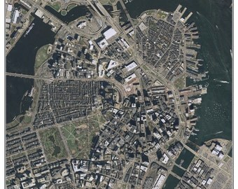 Downtown Boston, MA - 2013 Aerial Photo Composite
