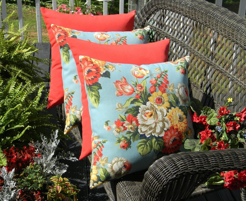 set of 4 20 indoor outdoor throw pillows 2 blue On resort spa home decor pillows