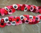 Paper Flower Garland/Paper Flowers/Wedding Arch Garland/Table Flower Garland/Poppy Garland/Rose Garland/Paper Flower Decoration/Home Decor