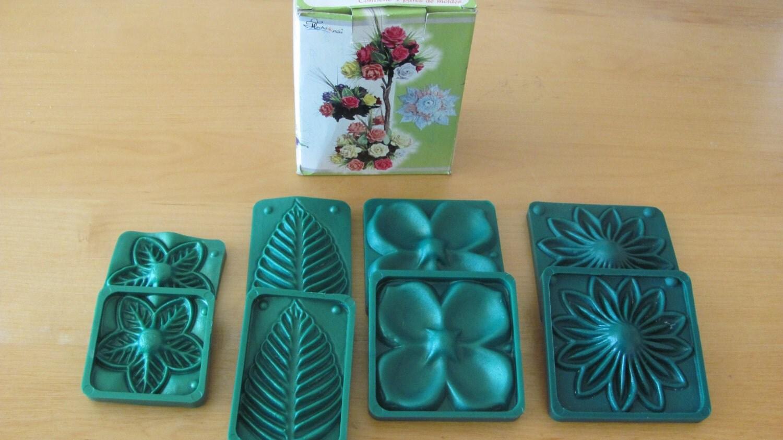 Moldes Para Lazos De Foamy: Flower Molds 3D KIT Foam Craft Moldes Para Hacer Flores De