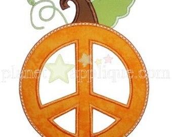 Peace Pumpkin Applique