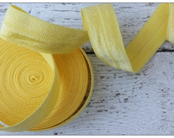 5/8 LEMON Fold Over Elastic 5 or 10 Yards