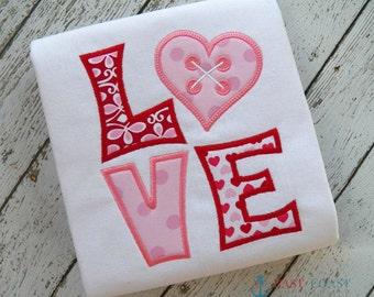 LOVE machine embroidery design