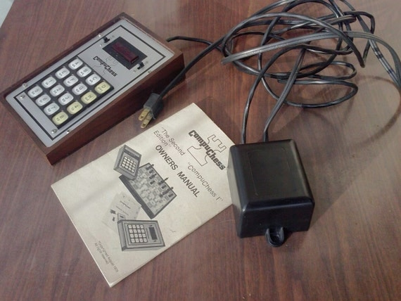 Electronic Chess Game Vintage COMPUCHESS 1970'S Rare Collectible By Data Cash Systems Used Working Condition LED Game