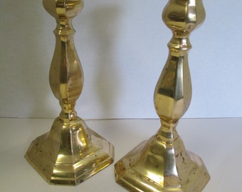 Vintage set of 2 brass Candle Sticks. used