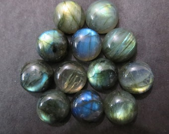 Natural Labradorite Round Cabochon 14X14 mm -1 pcs