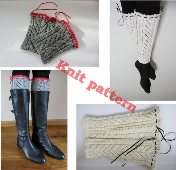 Items Similar To Knit Pattern Leg Warmers And Boot Cuffs DIY Vintage Pattern The 80 Ballet ...