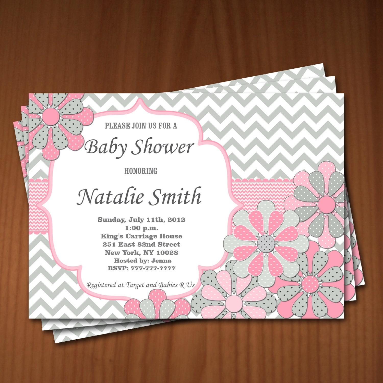 baby shower invitation flowers baby shower invitation girl