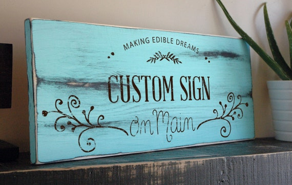 Custom Kitchen Sign Decoration Personalized By Jetmakdesigns