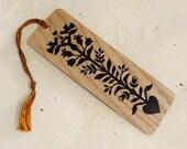 Heart Tree Eco-Friendly Fine Art Wood Bookmark with Tassel
