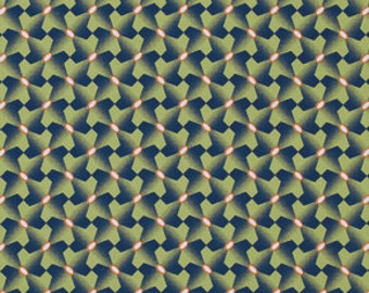 SALE Botanique Houndstooth Asparagus Fabric by Joel Dewberry for Free Spirit