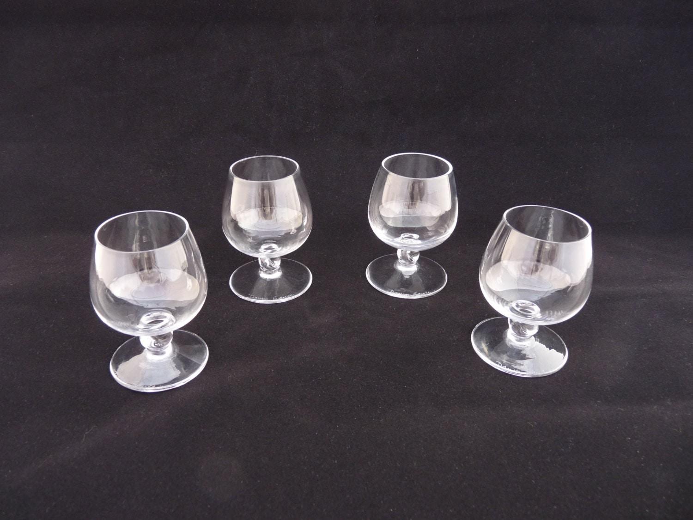 Bicchieri di cognac piccolo cristallo daum vintage set di for Bicchieri cristallo