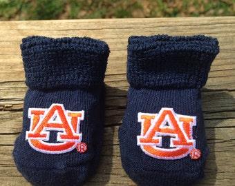 Auburn tigers baby booties go tigers.