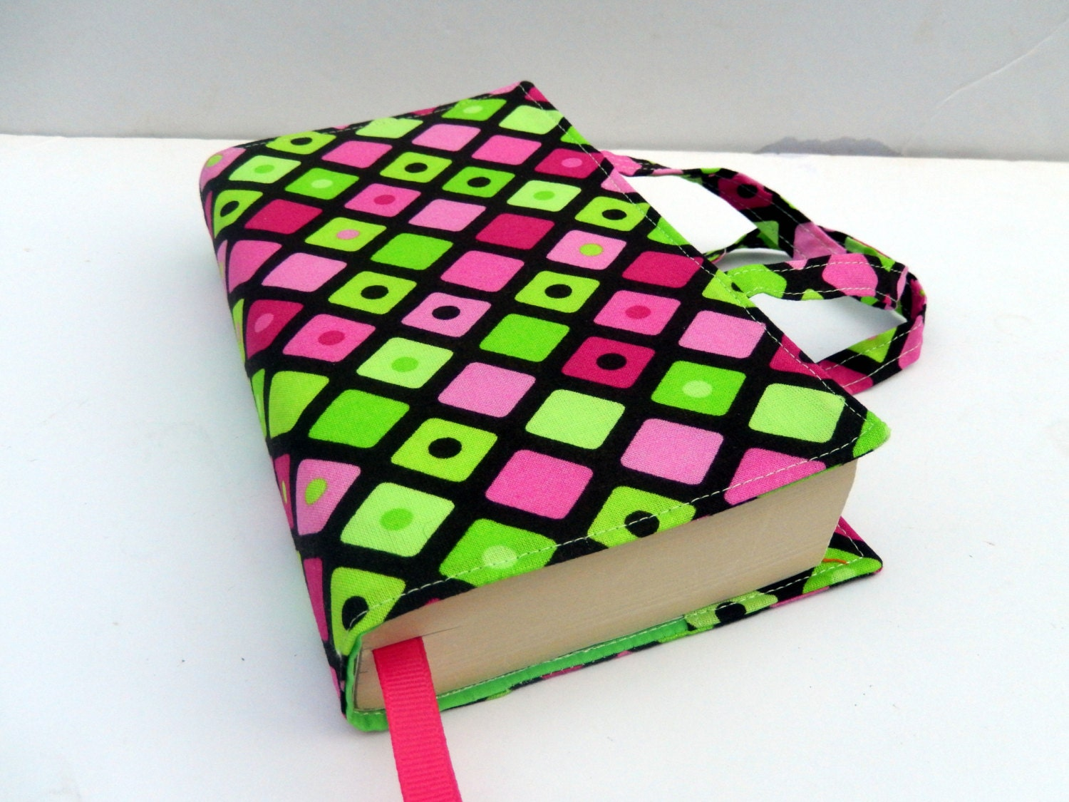 How To Make A Fabric Book Cover With Handles : Paperback fabric book cover with handles