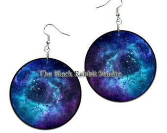 Orion - handmade earrings - decoupage