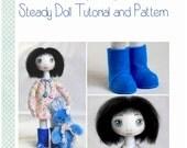 Cloth Doll Pattern & Tutorial - Steady Cloth Doll Tutorial and Sewing Pattern PDF ebook