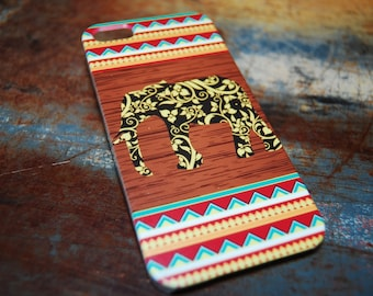 Primitive Aztec Elephant Cover For iPhone 6 / (4.7) / 4.7) 5c / 5s / 5 / 4s / 4 Hard Plastic Africa Indian India Primitive Cell Cover c57