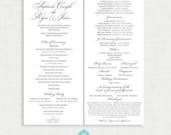 Printable Wedding Program - ALL COLORS Available - You Print - Digital File