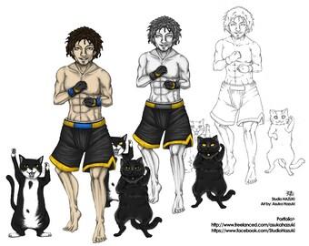 Manga Portrait with Your Pets -Turn yourself and your pet into manga character - Manga / Anime