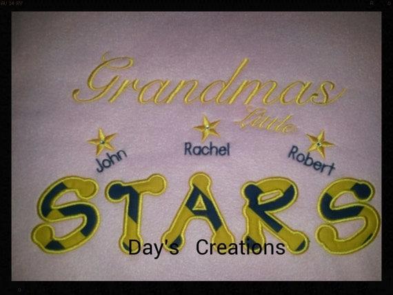 Grandma sweatshirt - crew neck grandparent sweatshirt - custom made grandparent sweatshirt - grandma little stars sweatshirt
