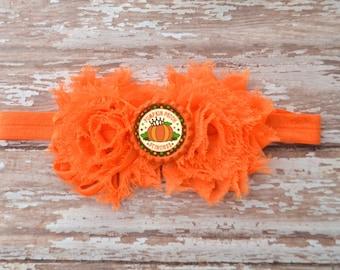 Pumpkin Patch Princess Headband, Halloween Headband, Halloween Bow, First Halloween Headband, Princess Headband, Baby Halloween Headband